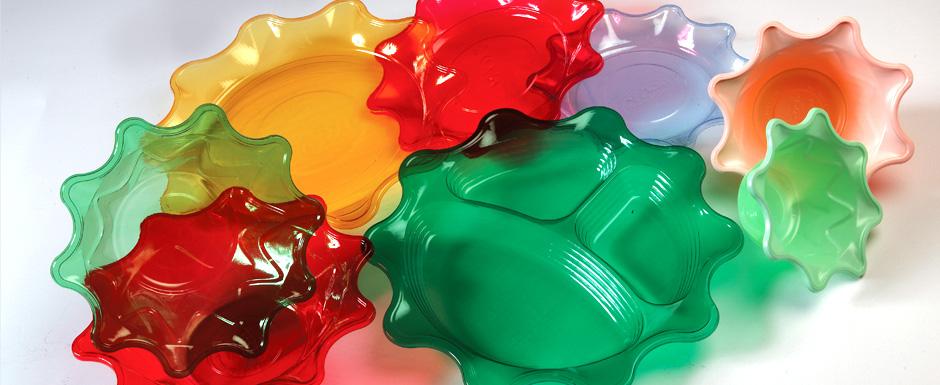 فروش ظروف یکبار مصرف رنگی