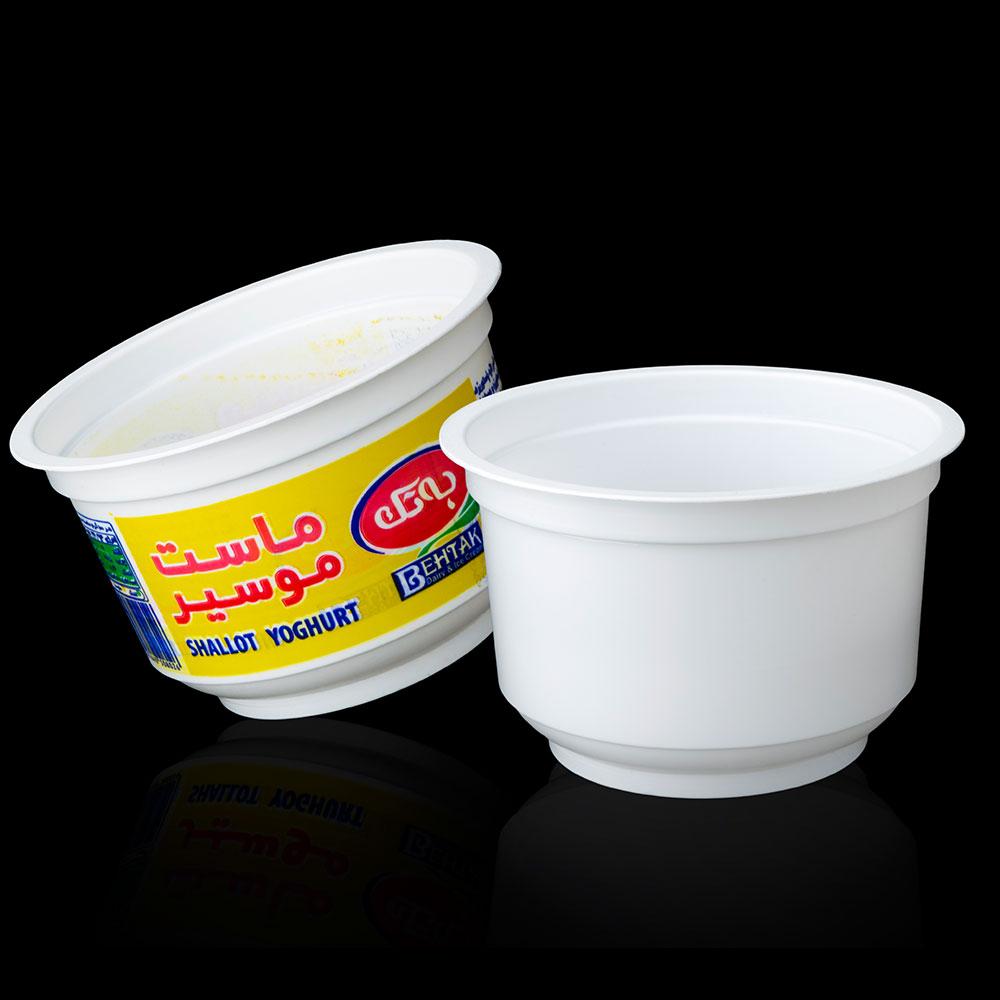 ظروف یکبار مصرف پلاستیکی لبنیات