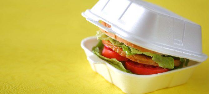 ظروف یکبار مصرف فوم همبرگر