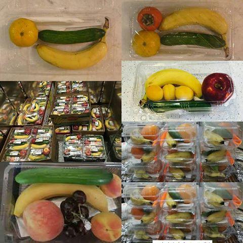 ظروف یکبار مصرف بسته بندی میوه