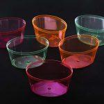 ظروف یکبار مصرف شیشه ای رنگی