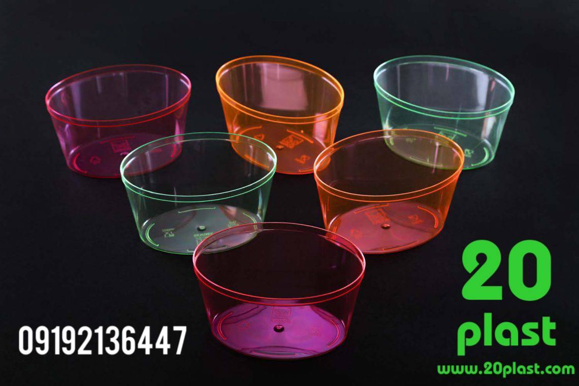 فروشنده انواع ظرف یکبار مصرف کریستالی گرد