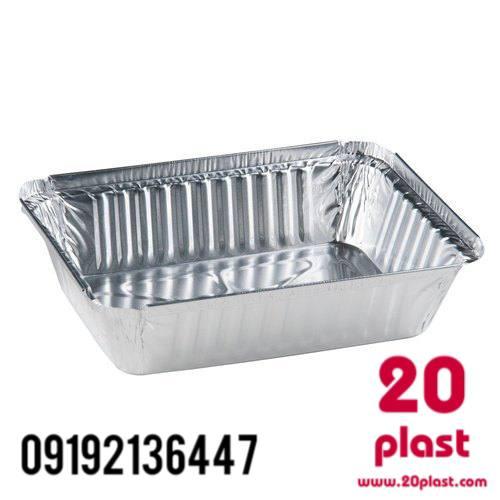 ظرف غذا یکبار مصرف آلومینیومی کد ۱۰۵