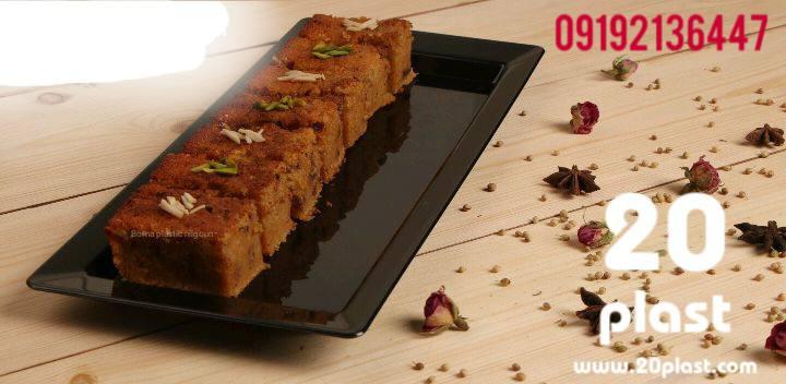 ظرف کیک رولتی یکبار مصرف با طراحی جدید