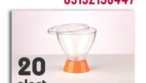 ظروف یکبار مصرف ثمین با پایه رنگی