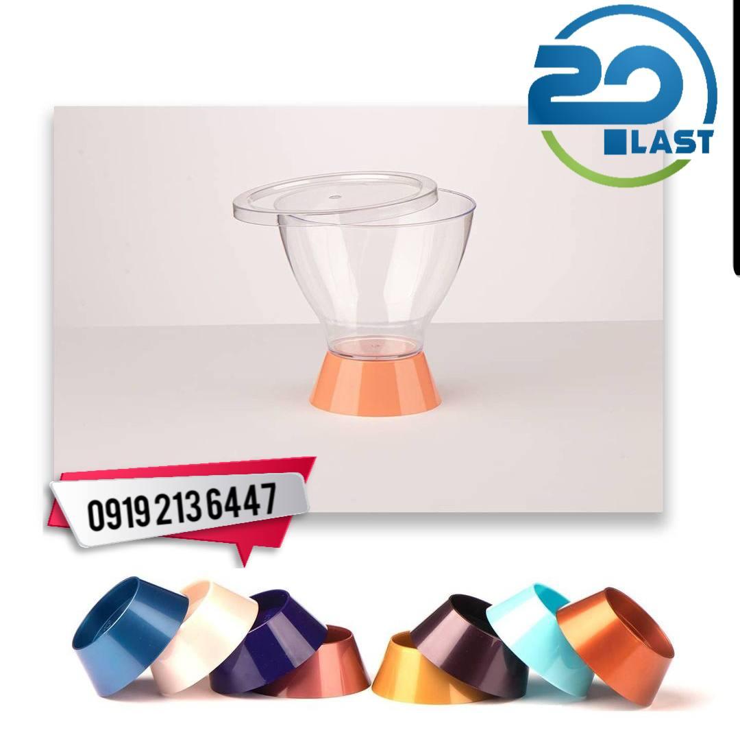 ظروف یکبار مصرف دسر پایه دار جدید